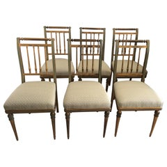 6 Regency Style Dining Room Chairs