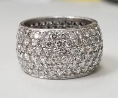 6 Row Diamond Pave' Eternity Ring