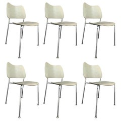 6 Stacking Chairs Made in Sweden by Lammhults Mobel