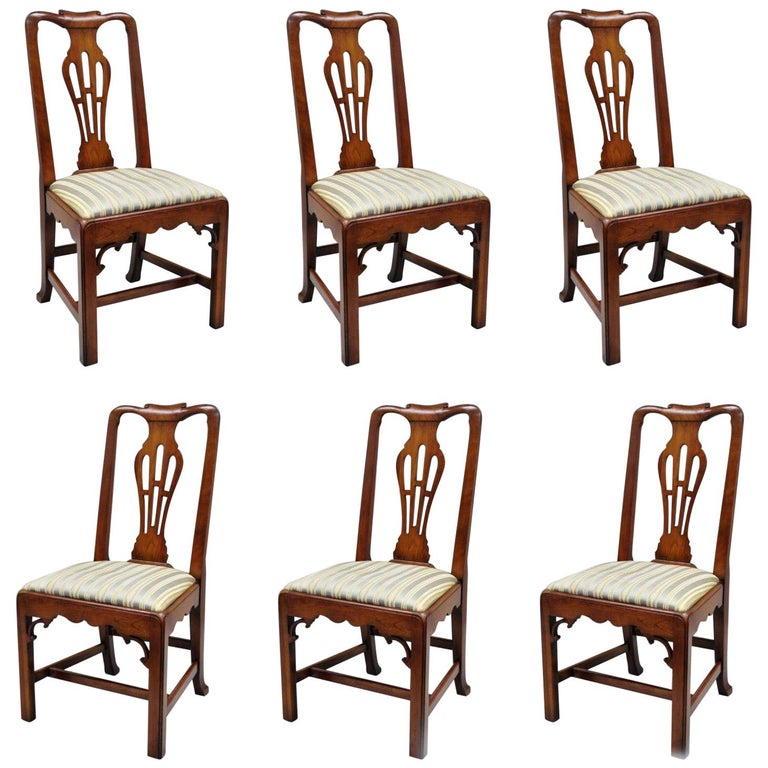 6 Statton Centennial Cherry Chippendale Style Dining