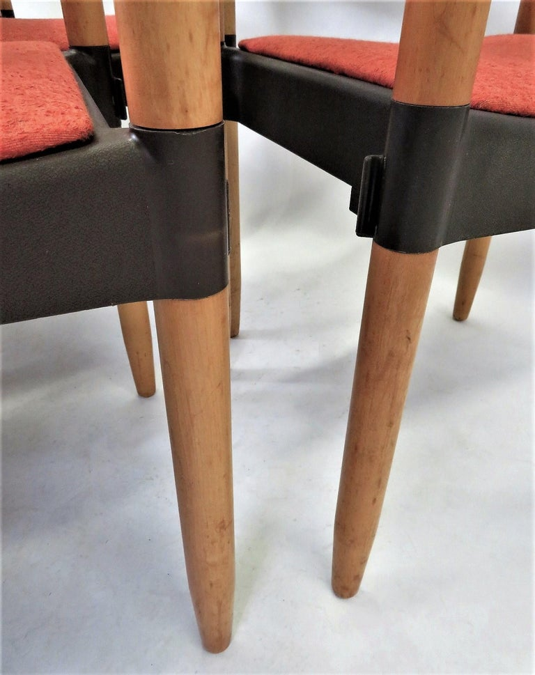 6 Strax Dining Chairs by Casala / Germany 1970s by Harmut Lohmeyer For Sale 8