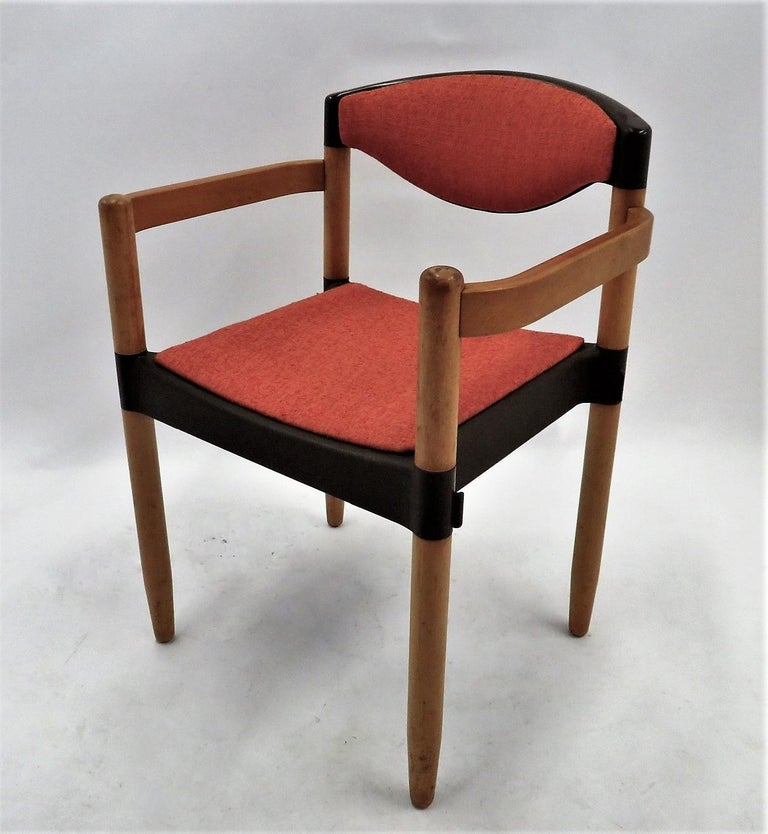 6 Strax Dining Chairs by Casala / Germany 1970s by Harmut Lohmeyer In Good Condition For Sale In Miami, FL