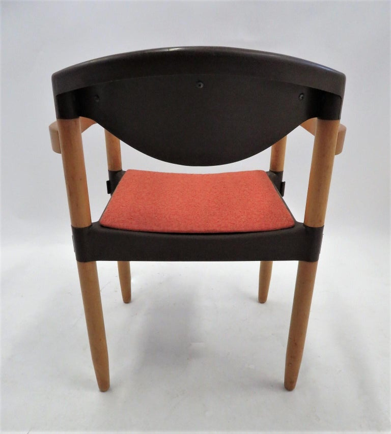 6 Strax Dining Chairs by Casala / Germany 1970s by Harmut Lohmeyer For Sale 2
