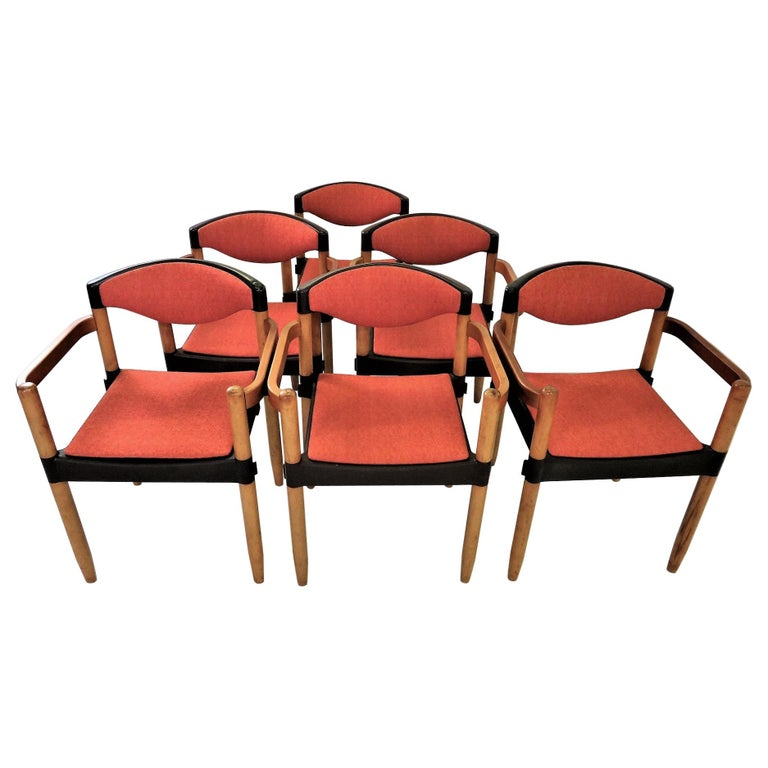 6 Strax Dining Chairs by Casala / Germany 1970s by Harmut Lohmeyer For Sale