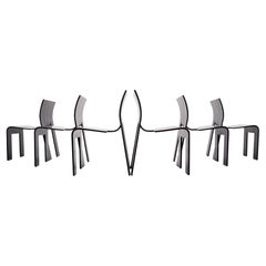 6 Strip Chairs Gijs Bakker, 1974, Holland