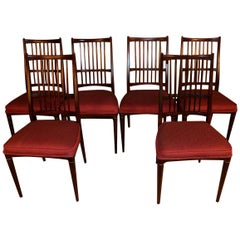 6 Svante Skogh Rosewood Cortina Dining Chairs