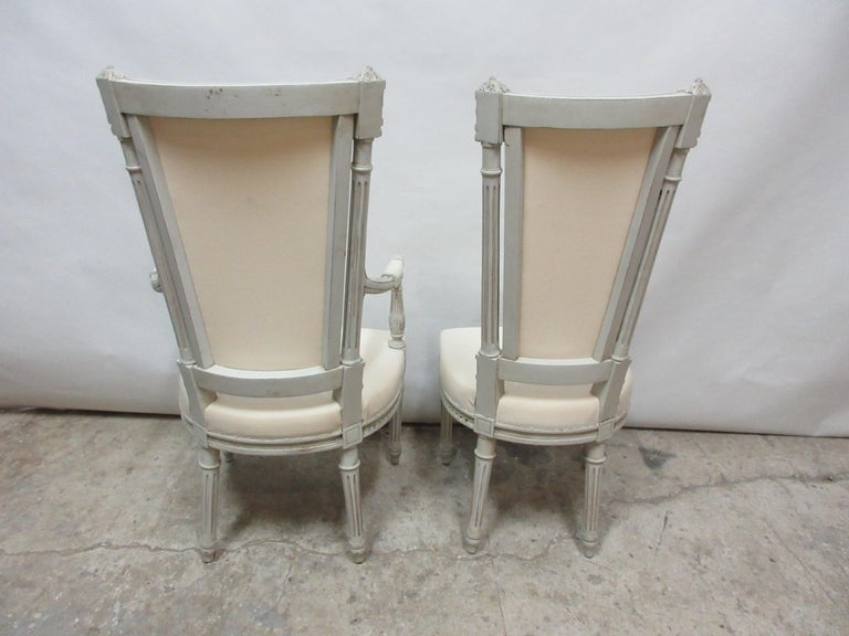 Early 20th Century 6 Swedish Gustavian Dining Chairs For Sale