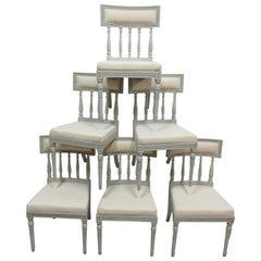6 Swedish Gustavian Dining Chairs