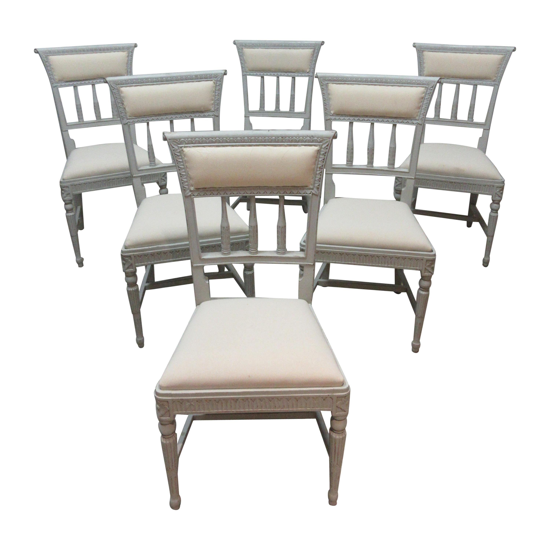 6 Swedish Gustavian Side Chairs