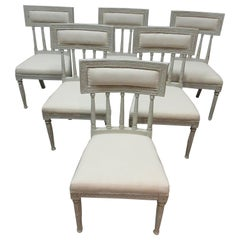 6 Swedish Gustavian Side Chairs
