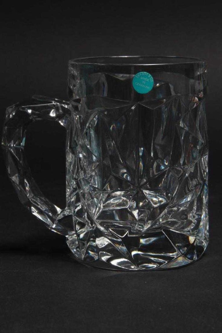 6 Tiffany & Co. Crystal Beer Mugs For Sale 1