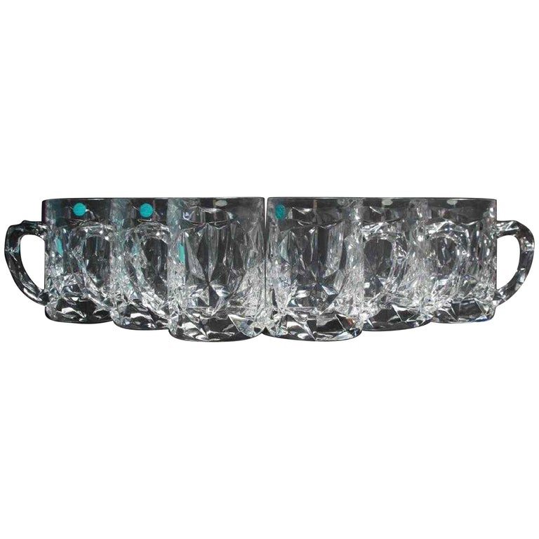 6 Tiffany & Co. Crystal Beer Mugs For Sale