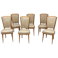 6 Typical French Chairs 1960
