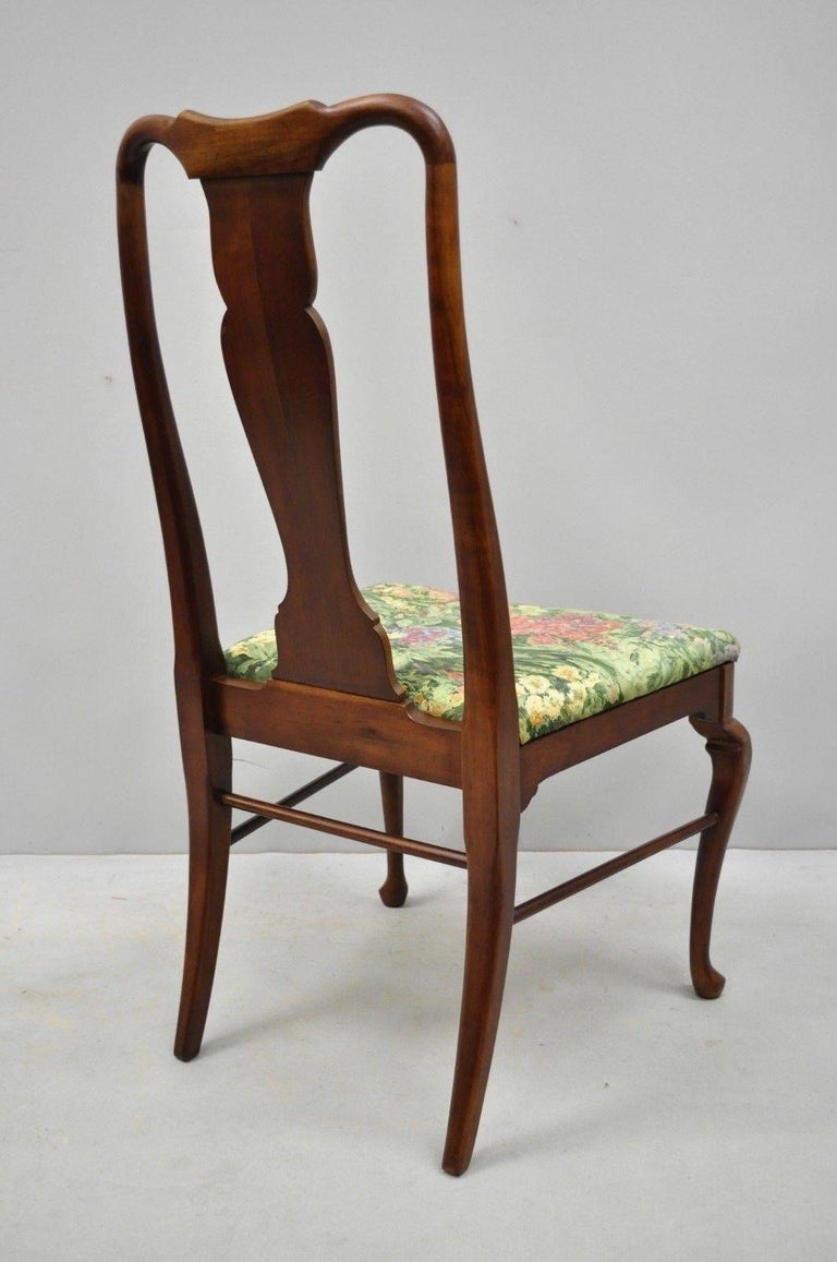 6 Vintage Thomasville Queen Anne Style Solid Cherrywood