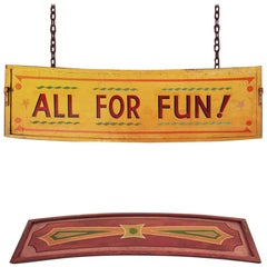 Six 1930s Vintage Fairground Signs