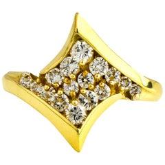 .60 Carat 18 Karat Yellow Gold Diamond Fashion Ring