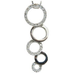 .60 Carat Circle Dangles Bubbles Natural Diamonds Pendant F/VS 14 Karat