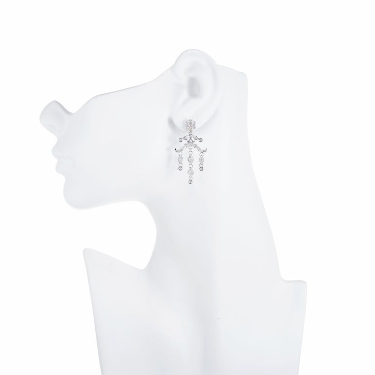 Women's .60 Carat Diamond Chandelier Dangle Drop Earrings For Sale