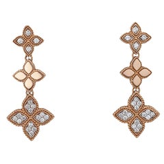 .60 Carat Diamond Rose Gold Dangle Earrings