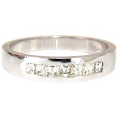 .60 Carat Natural Princess Diamond Band Ring 14 Karat Channel Row