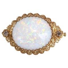 60 Ct Natural Opal Fancy Cognac Diamonds 18K Gold, 1960
