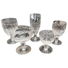 60 Piece Set of Handcut Irish Crystal Stemware by Waterford Colleen