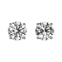 6.0 Total Carat Weight Apprx Diamond Earring Studs White Gold, Ben Dannie