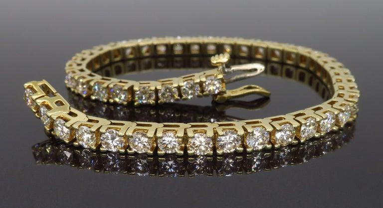 6.00 Carat Diamond Tennis Bracelet For Sale 1