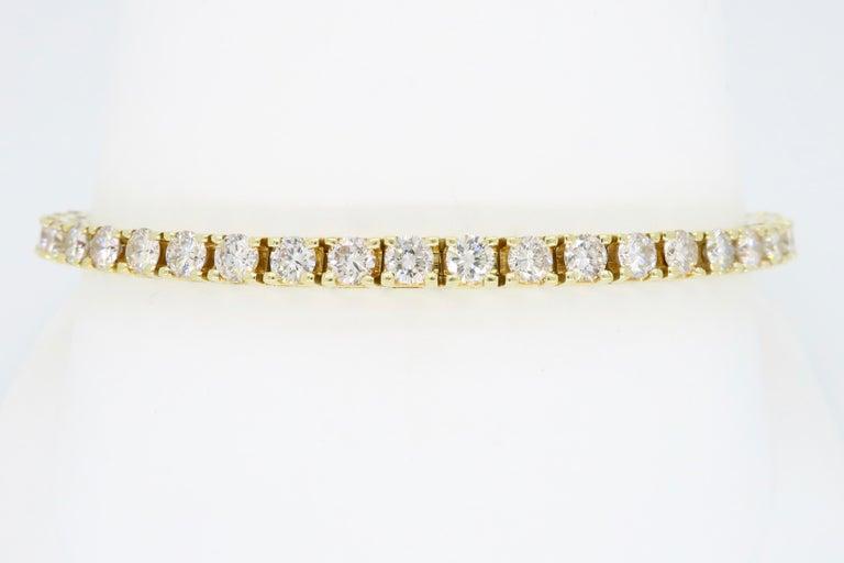 6.00 Carat Diamond Tennis Bracelet For Sale 2