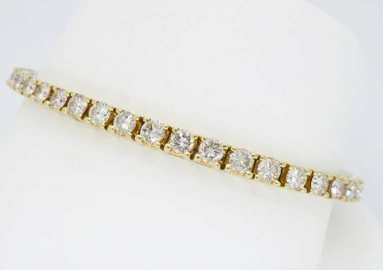 6.00 Carat Diamond Tennis Bracelet For Sale 3