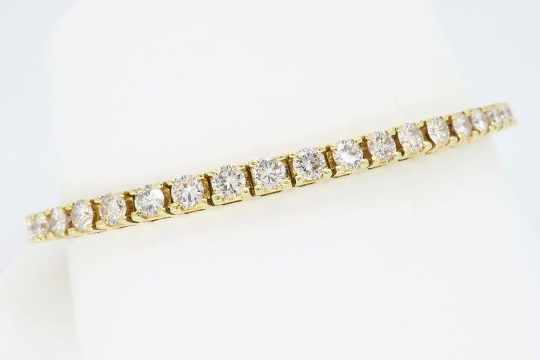 6.00 Carat Diamond Tennis Bracelet For Sale 4