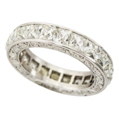 6.00 Carat French Cut Diamonds Eternity Band