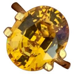 6.00 Carat Golden Yellow Ova Sapphire Loose Gemstone