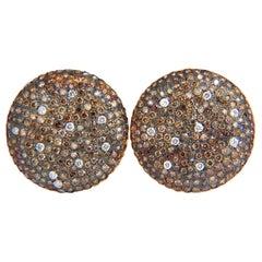 6.00 Carat Natural Fancy Color Diamonds Bead Set Earrings 18 Karat