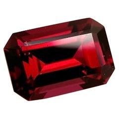 6.00 Carat Pyrope Garnet Octagon, Unset Loose 3-Stone Ring, Pendant Gemstone