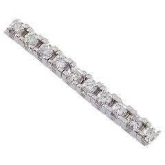 6.00 Carat Round Brilliant Diamond 18 Karat White Gold Tennis Bracelet