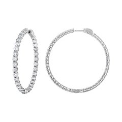 6.00 Carat Inside Out Round Diamond Hoops