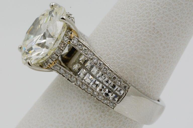 6.01 Carat Diamond Engagement Ring For Sale 4