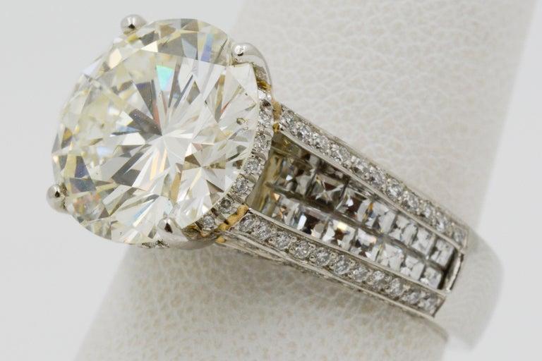 6.01 Carat Diamond Engagement Ring For Sale 5