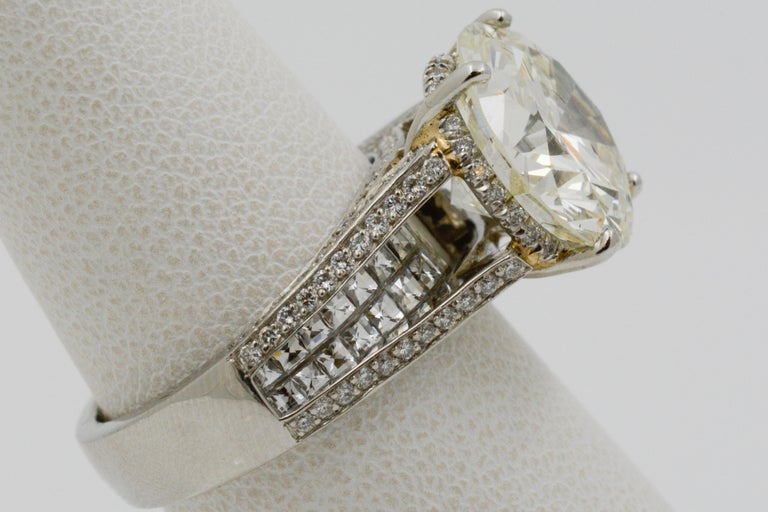 6.01 Carat Diamond Engagement Ring For Sale 6