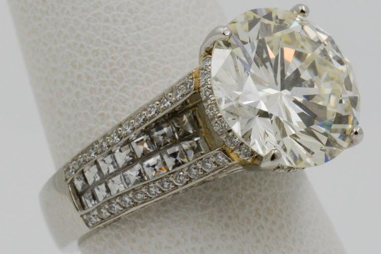 6.01 Carat Diamond Engagement Ring For Sale 7