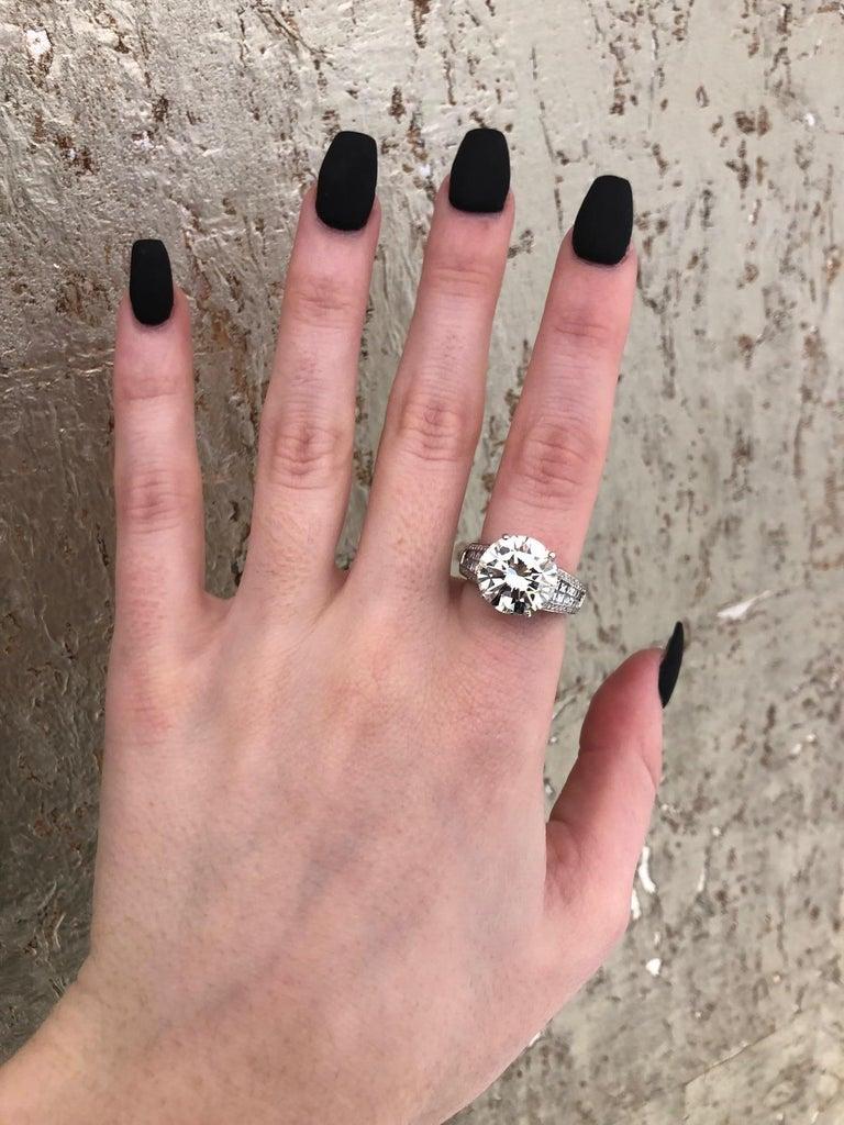6.01 Carat Diamond Engagement Ring For Sale 9