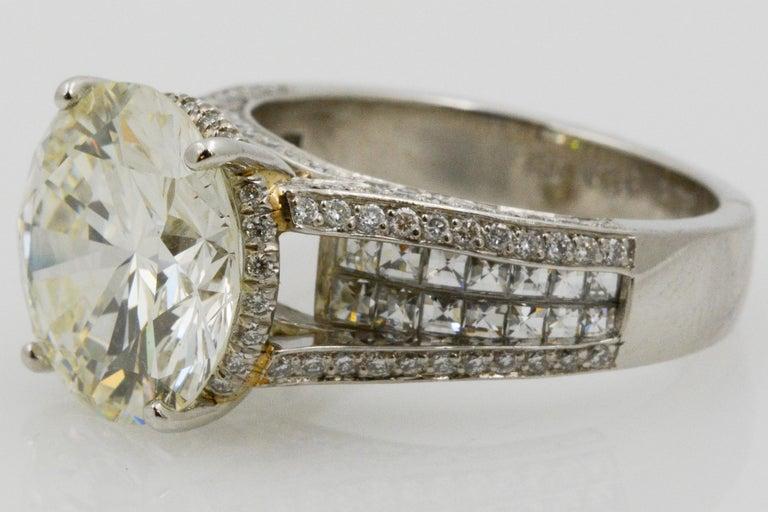 Modern 6.01 Carat Diamond Engagement Ring For Sale