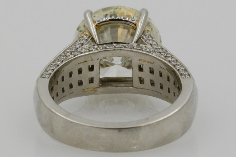 6.01 Carat Diamond Engagement Ring In New Condition For Sale In Dallas, TX