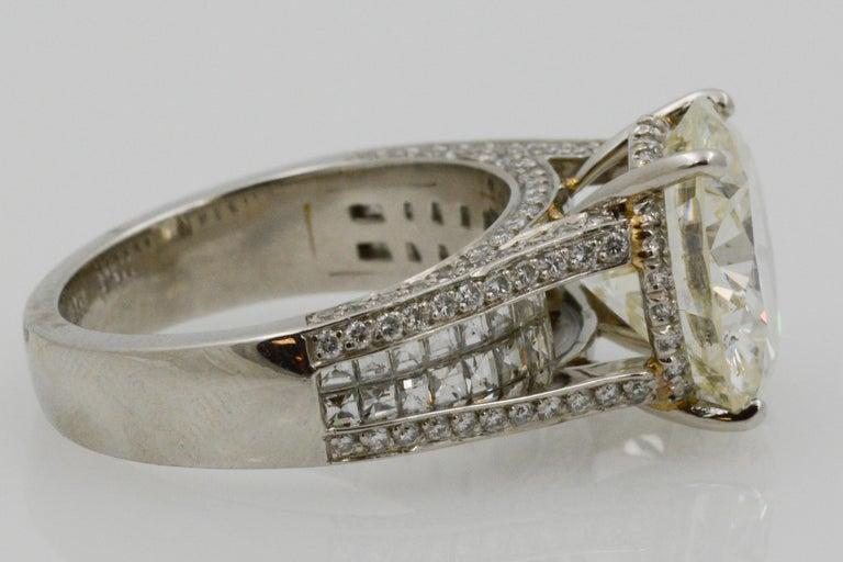 Women's 6.01 Carat Diamond Engagement Ring For Sale
