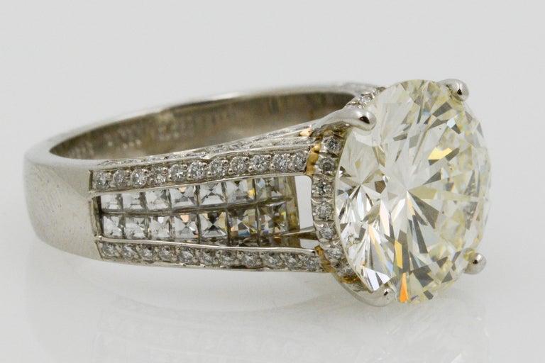 6.01 Carat Diamond Engagement Ring For Sale 1