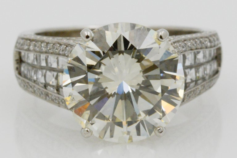 6.01 Carat Diamond Engagement Ring For Sale 2