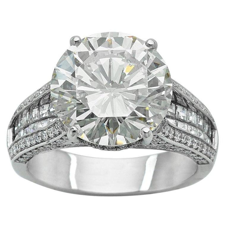 6.01 Carat Diamond Engagement Ring For Sale