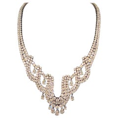 60.22 Carat Diamond Necklace in 18 Karat White Gold