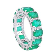 6.05 Carat Emerald Diamond 18 Karat Gold Ring